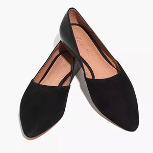 Madewell Lizbeth Suede Leather Pointed Toe Flat